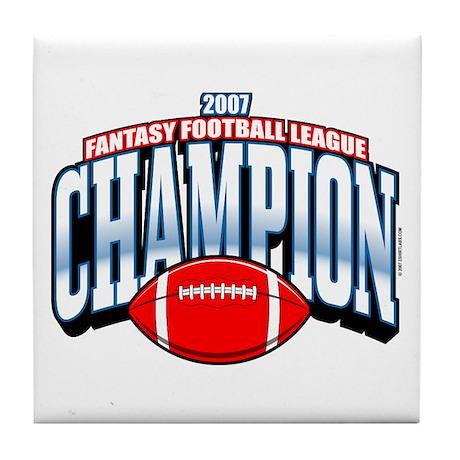 2007 Fantasy Football Champio Tile Coaster