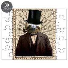 Gentlman Distinguished Sloth Steampunk Altered Art