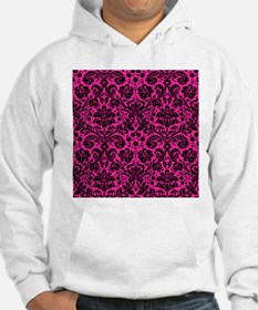 Hot pink and black damask Jumper Hoody