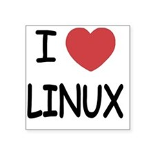 "LINUX Square Sticker 3"" x 3"""