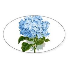 Blue hydrangea flowers Decal