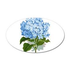 Blue hydrangea flowers Wall Sticker