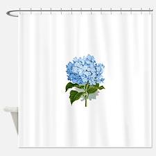 Blue hydrangea flowers Shower Curtain