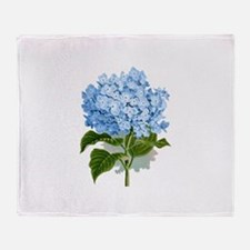 Blue hydrangea flowers Throw Blanket
