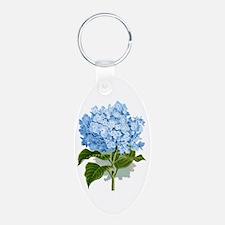 Blue hydrangea flowers Keychains