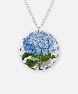 Blue hydrangea flowers Necklace