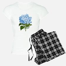 Blue hydrangea flowers pajamas