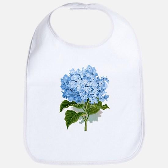 Blue hydrangea flowers Bib