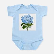 Blue hydrangea flowers Body Suit