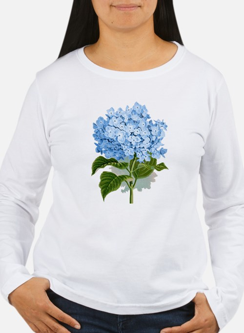 Blue hydrangea flowers Long Sleeve T-Shirt