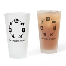 the circle of no life copy Drinking Glass