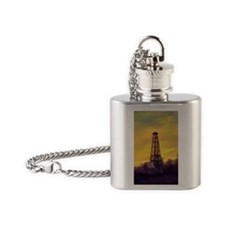 old derick sunset journal Flask Necklace