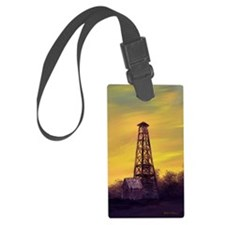 old derick sunset journal Luggage Tag