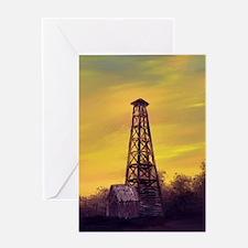 old derick sunset journal Greeting Card