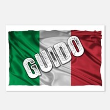 GUIDO ITALIAN FLAG Postcards (Package of 8)