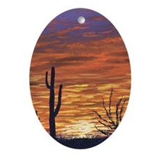 sonoran sunset journal Oval Ornament
