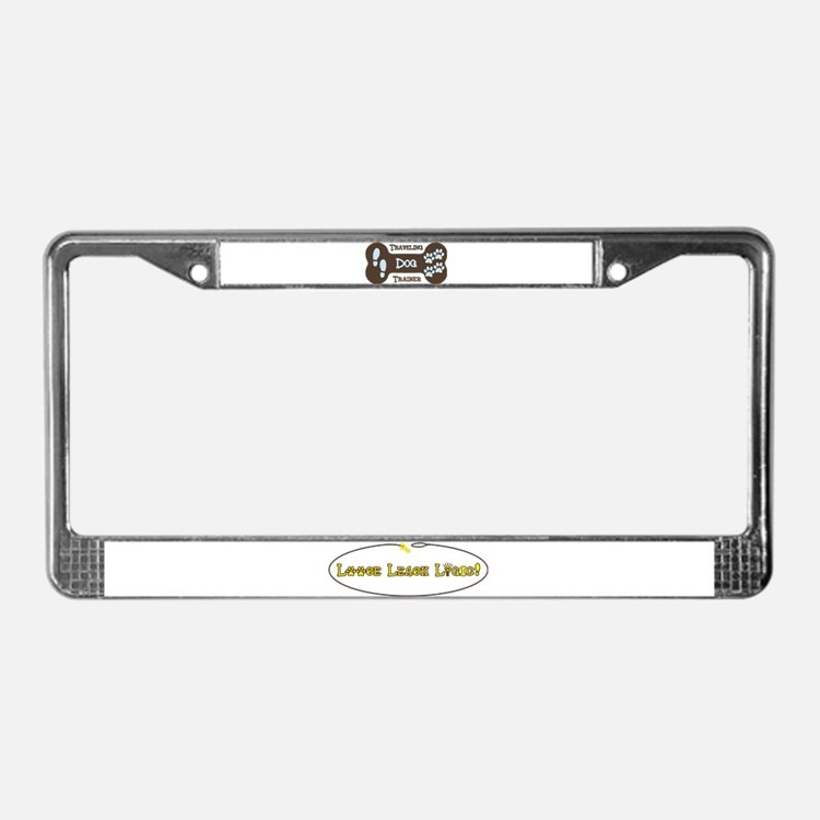 Cute Dog trainer License Plate Frame