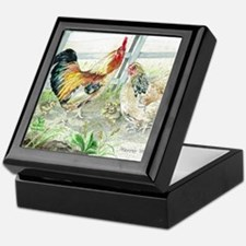 Rooster, Hen  Chicks Keepsake Box