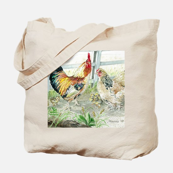 Rooster, Hen  Chicks Tote Bag