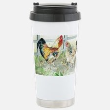 Rooster, Hen  Chicks Stainless Steel Travel Mug