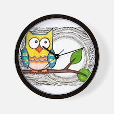 owl moon Wall Clock