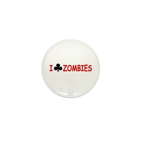 """I Club Zombies"" Mini Button (10 pack)"