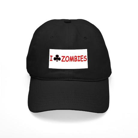 """""""I Club Zombies"""" Black Cap"""