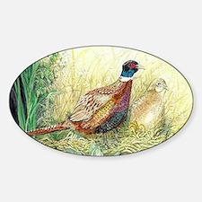 Pheasant Sticker (Oval)