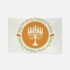 1st Thanksgiving Hanukkah Rectangle Magnet