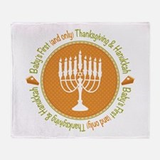 1st Thanksgiving Hanukkah Throw Blanket