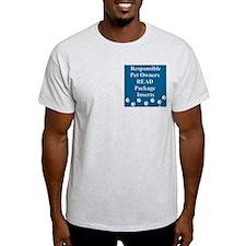 Package Insert Ash Grey T-Shirt