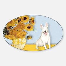 Sunflowers - Bull Terrier 4 Decal