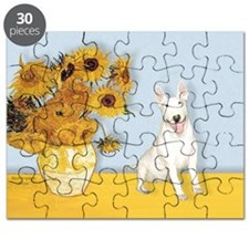 Sunflowers - Bull Terrier 4 Puzzle