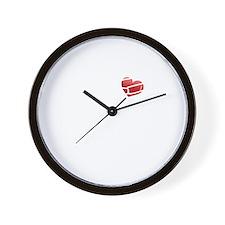 2-rib cage heart black Wall Clock