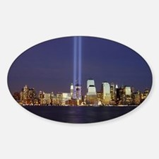 911 Tribute of Lights Sticker (Oval)