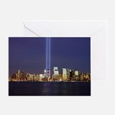 911 Tribute of Lights Greeting Card