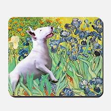 Irises - Bull Terrier 3 Mousepad