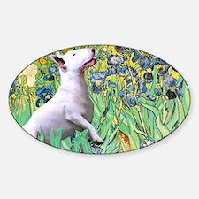 Irises - Bull Terrier 3 Decal