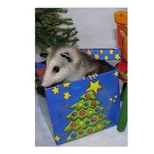 Opossum Christmas Present Postcards (Package of 8)