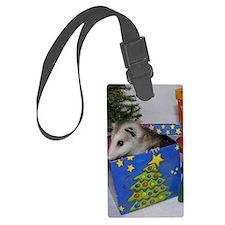 Opossum Christmas Present Luggage Tag