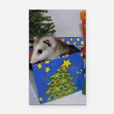 Opossum Christmas Present Rectangle Car Magnet