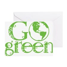 2-Go-Green-blk Greeting Card