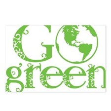 2-Go-Green-blk Postcards (Package of 8)