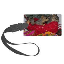 Three Squirrels in a Christmas S Luggage Tag