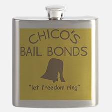 Chicos Bail Bonds Magnet Gold Flask
