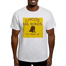 Chicos Bail Bonds Magnet Gold T-Shirt