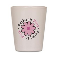 perky-in-pink-round Shot Glass