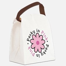 perky-in-pink-round Canvas Lunch Bag