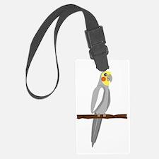cartoon cockatiel male Luggage Tag