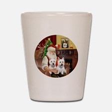 Santa (R) - Two Westies Shot Glass